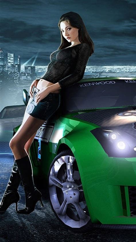 Need for speed girl Wallpaper for iPhone X, 8, 7, 6 - Free